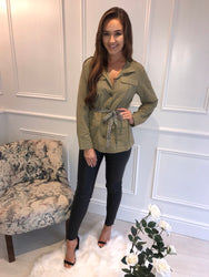 Khaki Belted Jacket/Top