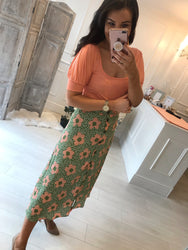 Laurie Floral Print Skirt