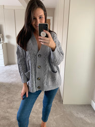 **PRE-ORDER**Grey Catie Cable Cardi