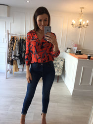 Eva Printed Shirt Top