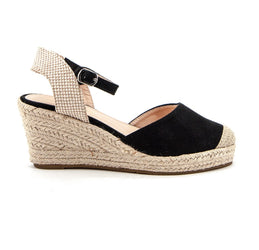 Stella Black Wedge