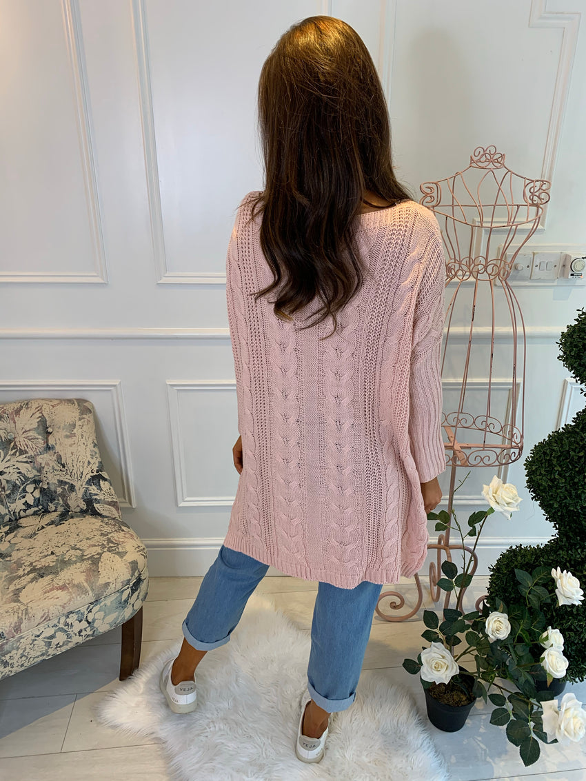Sienna Blush Knitted Jumper