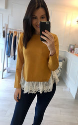 Mustard Layered Jumper Knit