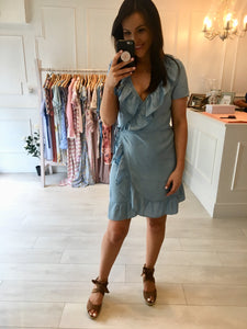 Denim Frill Dress