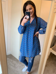 Kate Blue Polka Dot Tunic