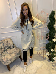 Becky Beige Long Line Jumper/Dress