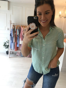 Stripe Green Shirt