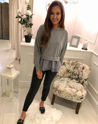 Grey Tulle Jumper