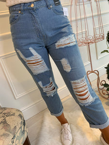 *Pre-Order* Perry Distressed Mom Jeans
