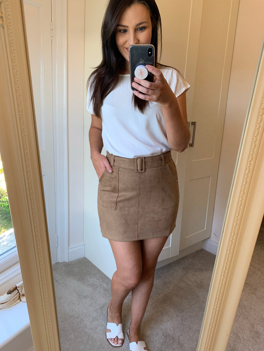 Siofra Suede Skirt
