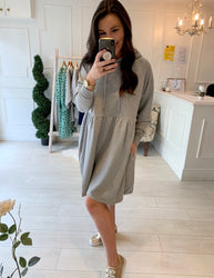 Sara Sweatshirt Dress Grey