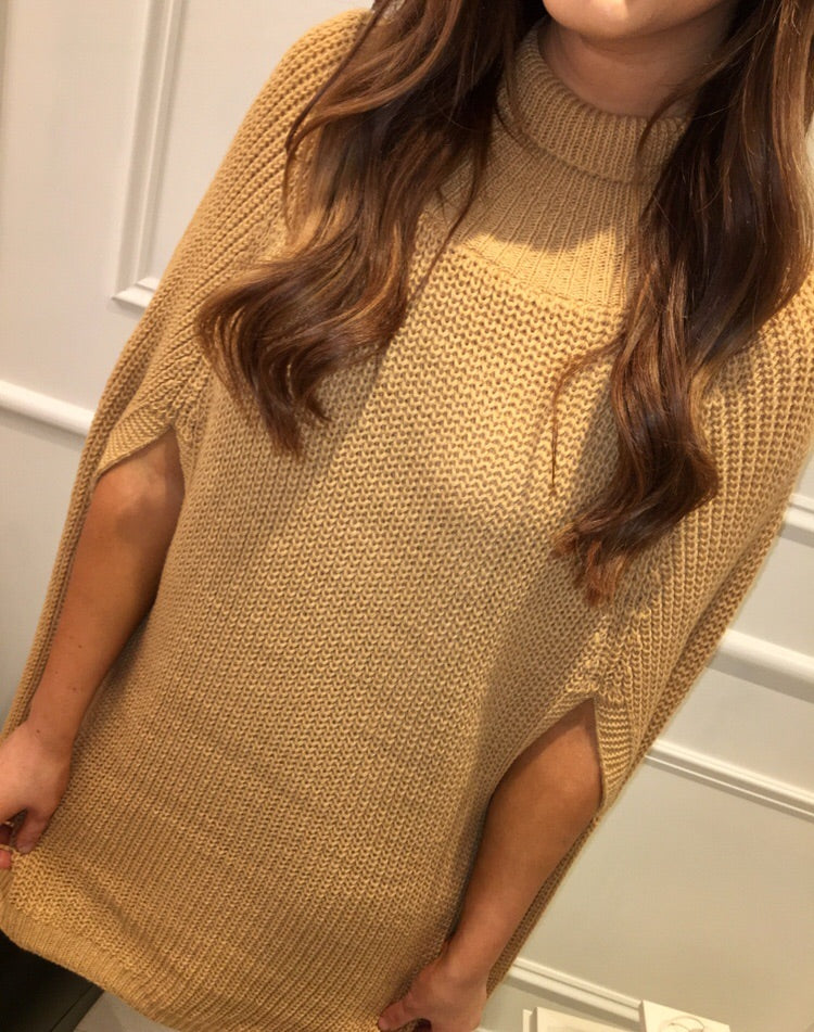 Camel Cape Knit