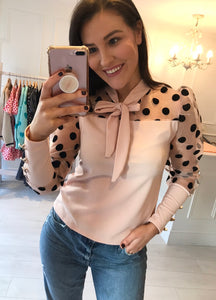 Blush Polka Organza Top
