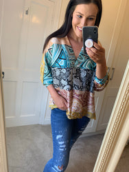 Haley Printed Blouse