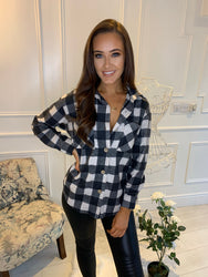 Gerri Black Check Shirt