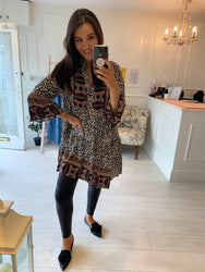 Beth Cream Boho Tunic/Dress