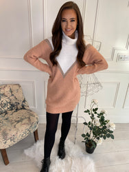 Rosie Blush Detail Jumper Dress