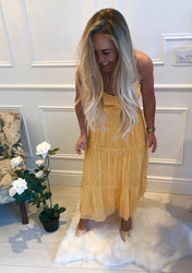 Yasmin Yellow Maxi/Midi Dress