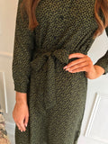 Green Polka Dot Shirt Dress