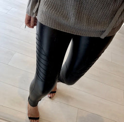 Biker Leather Look Jeggings