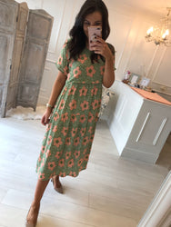 Roz Flower Print Dress