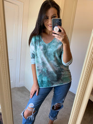 Terrie Green Tie Dye Top