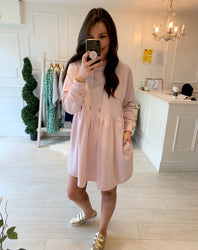 Sara Sweatshirt Dress Blush