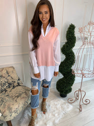 Steph Blush Layered Top