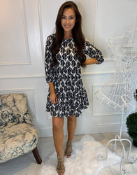 Allie Leaf Print Dress