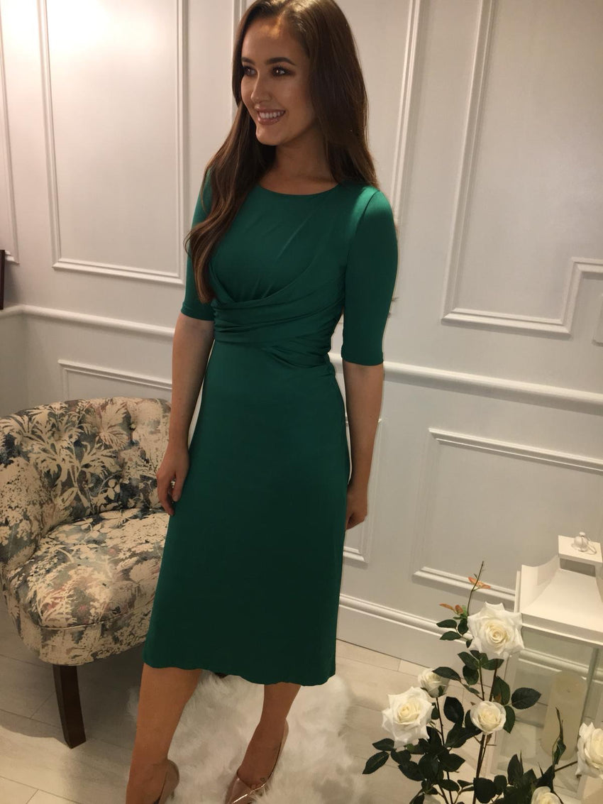 Green Ruched Dress