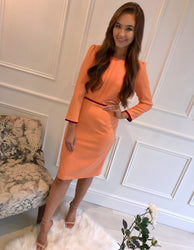 Megan Orange Plum Detail Dress