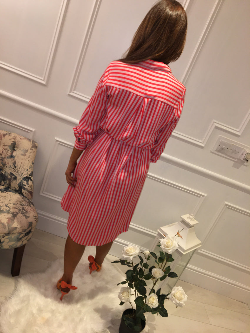 Pink Stripe Dress