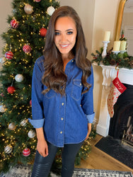 Madison Blue Denim Shirt
