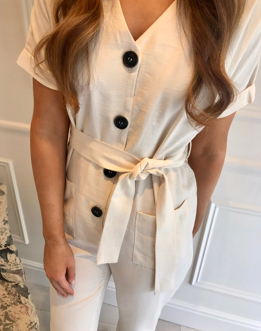 Nylah Cream Jumpsuit