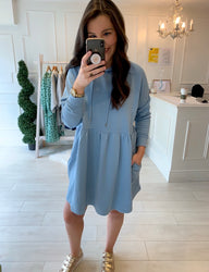 Sara Sweatshirt Dress Powder Blue
