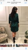 Green Dancing Leopard shirt Dress