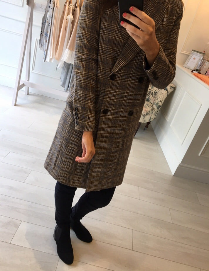 Tweed Effect Coat