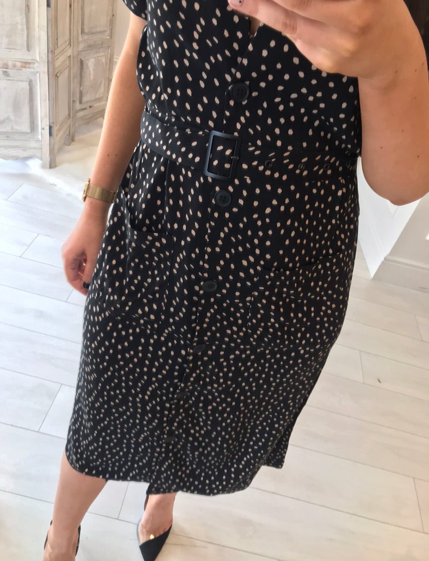 Jodie Black Spot Dress