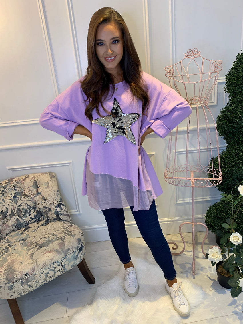 Sophia Star Layered Top Lilac