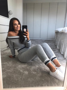 Grey Knitted Lounge Set