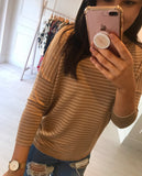 Stripe Beige Jumper