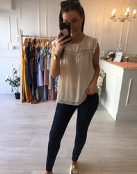 Cream textured top