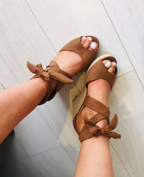Tan Tie Wedges