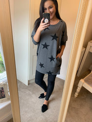 Aerial Grey Star Top