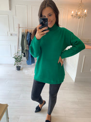 Nell Forest Green long Line Knit