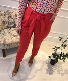 Thelma Tomato Red Trousers