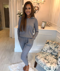 Grey Ribbed Lounge Suit