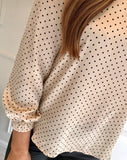 Cream & Black Polka Dot Blouse