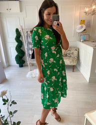Daytona Green Print Dress