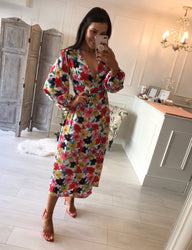 Mercy Floral Wrap Dress
